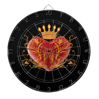 Crown Filigree Heart Dart Board