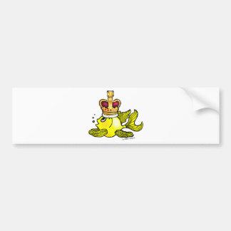 Crown Fish ~ funny cute royal monarch cartoon Bumper Sticker