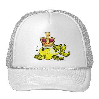Crown Fish ~ funny cute royal monarch cartoon Trucker Hat