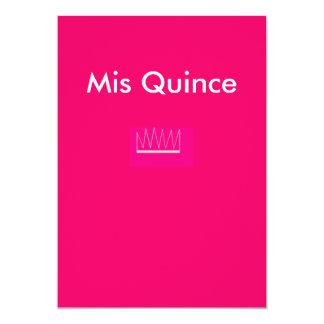 crown for quinces, Mis Quince Card