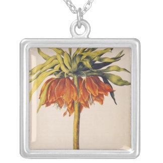Crown Fritillary, from 'La Guirlande de Julie' Square Pendant Necklace