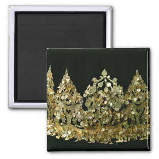 Crown from the excavations of the necropolis 2 inch square magnet