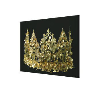 Crown from the excavations of the necropolis gallery wrapped canvas