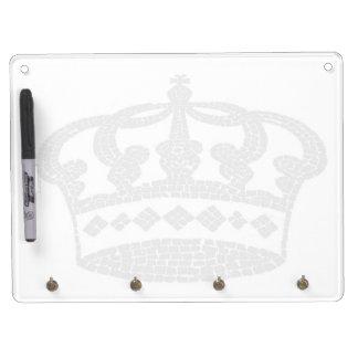 Crown graphic design dry erase board with keychain holder