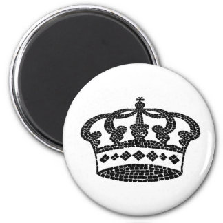Crown graphic design 2 inch round magnet