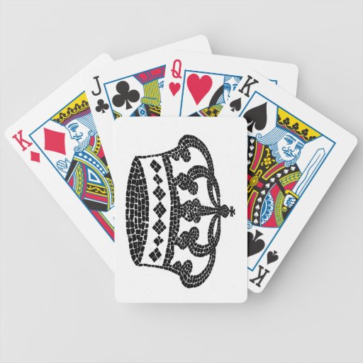 Crown graphic design playing cards