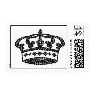 Crown graphic design postage stamps