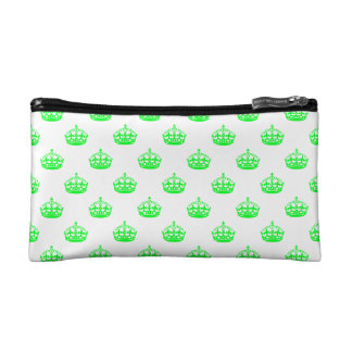 Crown Green Cosmetic Bag