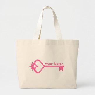 Crown Heart Key Jumbo Tote Bag