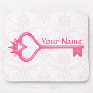 Crown Heart Key Mouse Pads