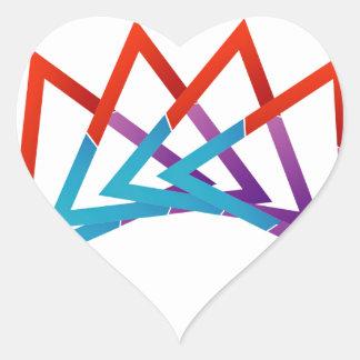 Crown Heart Sticker