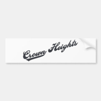 Crown Heights Bumper Stickers