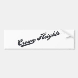 Crown Heights Car Bumper Sticker