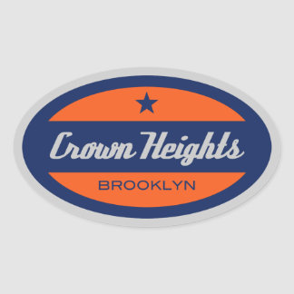 Crown Heights Oval Sticker