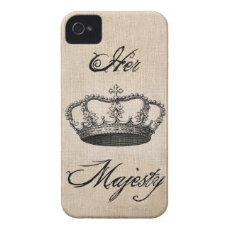 "Crown "" Her Majesty"" iPhone 4 Cover"