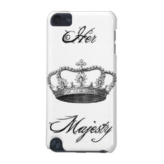 """Crown """"Her Majesty"""" iPod Touch Case White"""