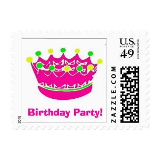 Crown Hot Pink Birthday Party! Stamps