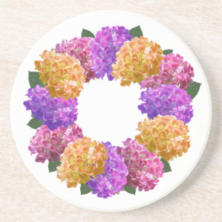 Crown Hydrangea Nice Image Sandstone Coaster