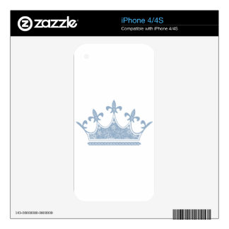 Crown Image fash Skin For iPhone 4S