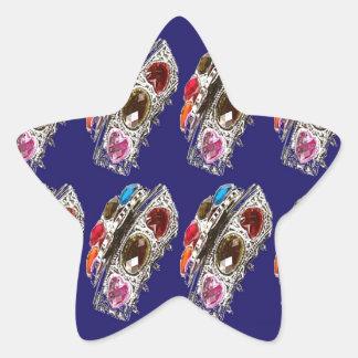 Crown Imitation Jewel Pattern KIDS Partyroom FUN Star Sticker