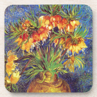 Crown Imperial Fritillaries in a Copper Vase Beverage Coaster