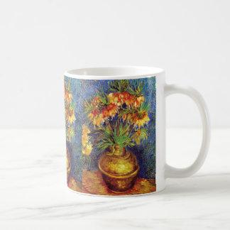 Crown Imperial Fritillaries in a Copper Vase Coffee Mug