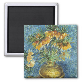 Crown Imperial Fritillaries in a Copper Vase Refrigerator Magnet