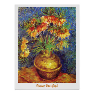 Crown Imperial Fritillaries in a Copper Vase Poster