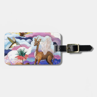 """""""Crown Imperial"""" Unicorn and Hummingbird Luggage Tag"""