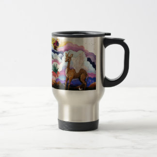 """Crown Imperial"" Unicorn and Hummingbird Travel Mug"