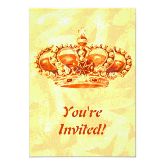 Crown in Gold 5x7 Paper Invitation Card