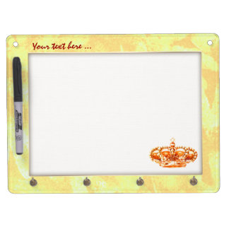 Crown in Gold Dry Erase Board With Keychain Holder