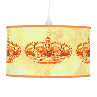 Crown in Gold Hanging Lamp