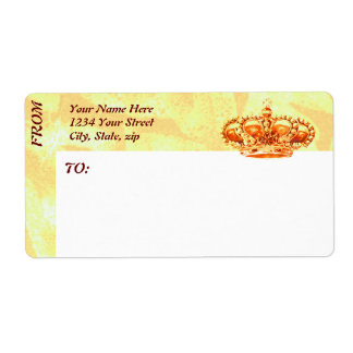 Crown in Gold Shipping Label