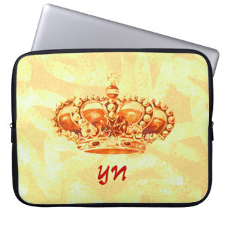 Crown in Gold Laptop Computer Sleeves