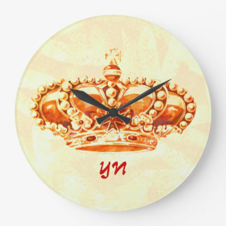 Crown in Gold Large Clock