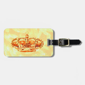 Crown in Gold Luggage Tag