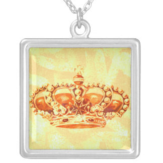 Crown in Gold Personalized Necklace