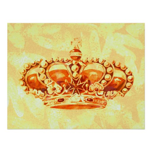 Crown in Gold Posters