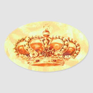Crown in Gold Stickers