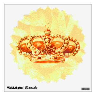 Crown in Gold Wall Decal