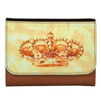 Crown in Gold Wallet