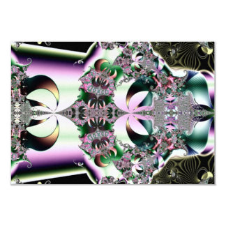Crown Jewel Lotus Flower Fractal Personalized Invite