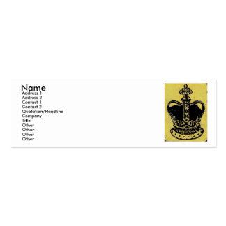 crown jewels aged mini business card