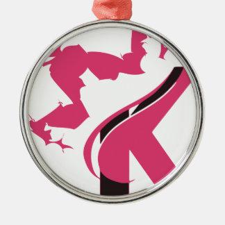 Crown K Logo Design BMI Metal Ornament