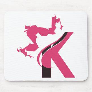 Crown K Logo Design BMI Mouse Pad