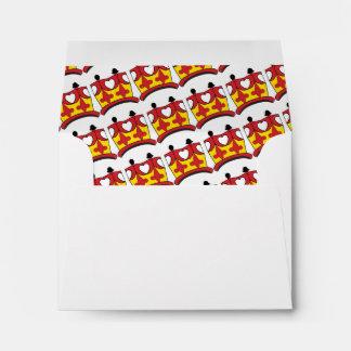 CROWN KIDS CARTOON A2 Note Card Envelope RED