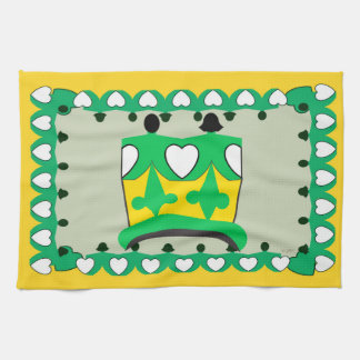 CROWN KIDS GREEN CARTOON Linen with crockery Hand Towel