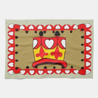 CROWN KIDS RED CARTOON Linen with crockery Towel