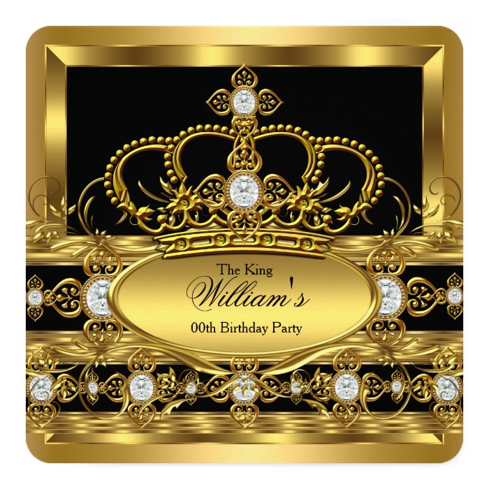 crown king prince queen royal gold diamond party card  zazzle